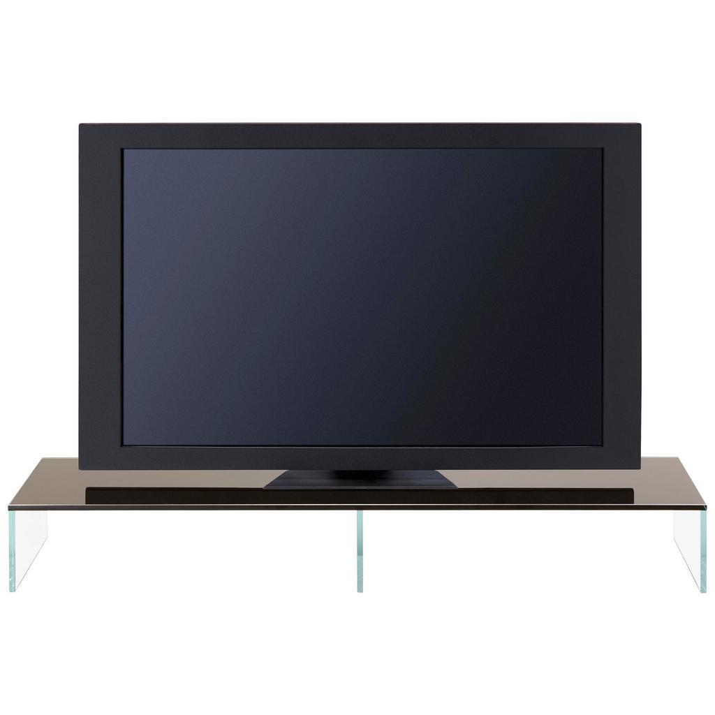 TV-Aufsatz Schwarz/Transparent