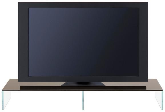 Tv-stojalo Black-line - črna/prosojna, steklo (110/14/35cm) - Mömax modern living