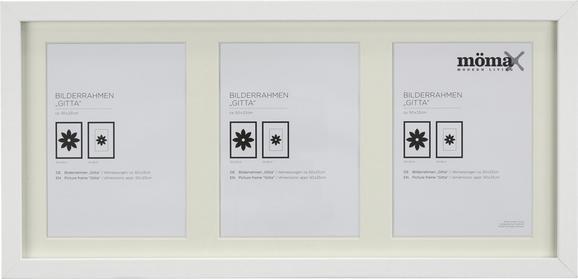 Képkeret Fa - Fehér, modern, Üveg/Fa (23/50cm) - Mömax modern living