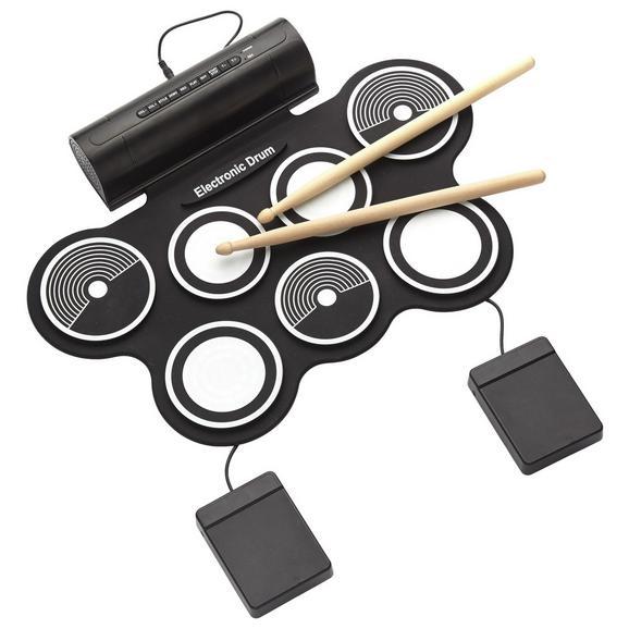 Schlagzeug-Set Schlagzeug in Schwarz - Schwarz, Basics, Kunststoff/Metall (44/25,9/10cm)