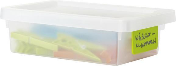 Doboz Tetővel Írható Kártyával - áttetsző, konvencionális, műanyag (16/23/7cm) - MÖMAX modern living