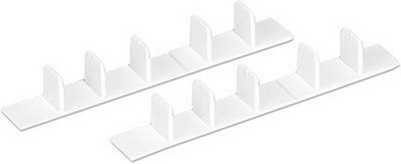 Végzáró Dori - Fehér, Műanyag (8.3/2.2/1.7cm) - MÖMAX modern living
