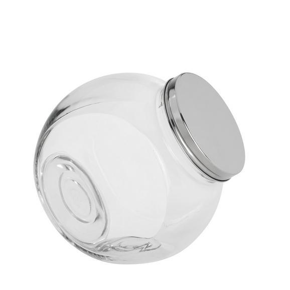 Steklena Posodica Za Začimbe Antonius - prozorna/nerjaveče jeklo, kovina/steklo (18,5/13/19cm) - Mömax modern living