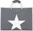 Bevásárlótáska Star - Antracit/Fehér, Műanyag/Fém (54/24/40cm) - Mömax modern living