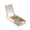 Dekobox Mirror aus Kautschukholz - Naturfarben/Weiß, Glas/Holz (23,495/14,3/5,72cm) - Mömax modern living