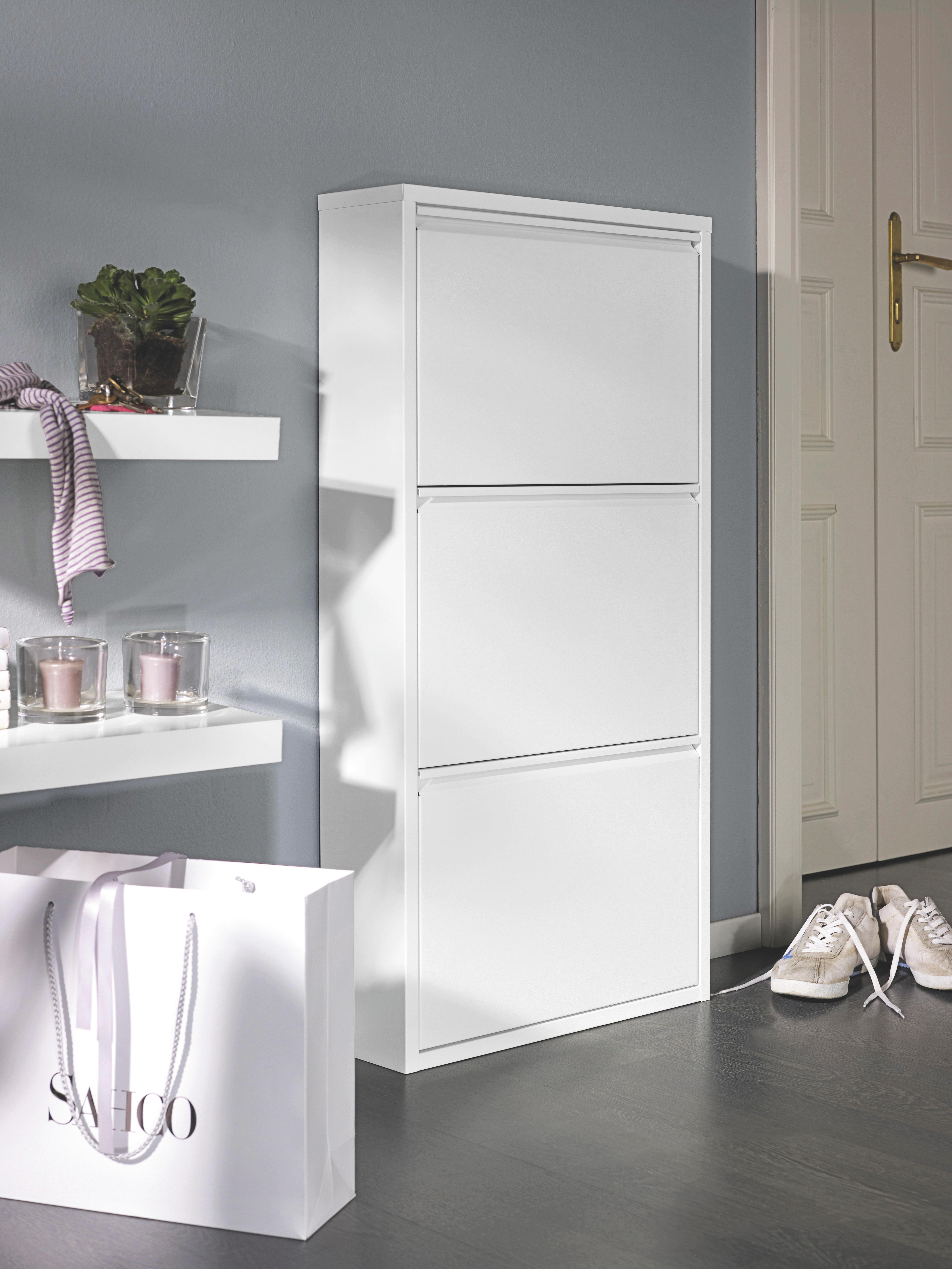 Schuhkipper in Weiß aus Metall - Weiß, Metall (50/103/15cm) - MÖMAX modern living