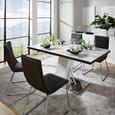 Jedilna Miza Metz Ca. 160x90 Cm - bela/nerjaveče jeklo, Moderno, kovina/steklo (160/76/90cm) - Mömax modern living