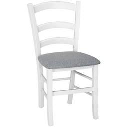 Stuhl in Weiß - Grau, LIFESTYLE, Holz/Textil (44/87/51,5cm) - Zandiara