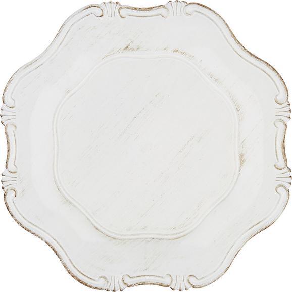 Platzteller Gese in verschiedenen Farben - Blau/Rosa, ROMANTIK / LANDHAUS, Kunststoff (33/2cm)
