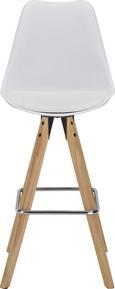 Barski Stol Durham - bela/rjava, Moderno, kovina/umetna masa (48,5/111,5/55cm) - Zandiara