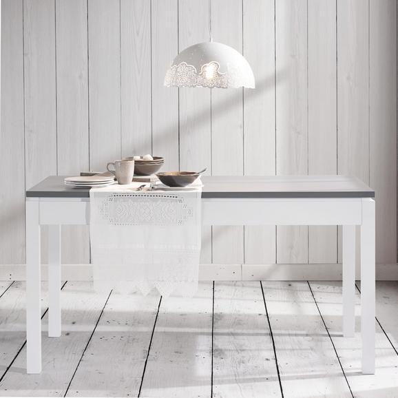 Esstisch Liana 150x80cm - Weiß/Grau, MODERN, Holz (150/80/79,5cm) - MÖMAX modern living