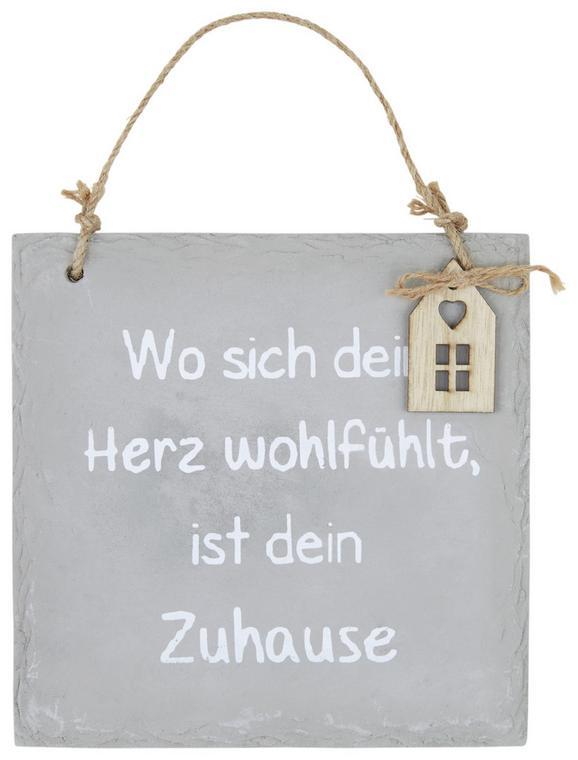 Dekoschild Nicole Verschiedene Sprüche - Grau, Stein (1,5/19,5/20cm)