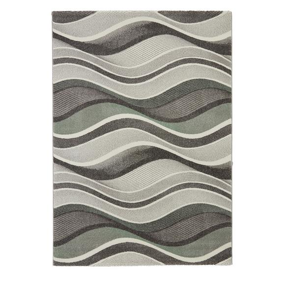 Webteppich Bill Grün 80x150cm - Grau, MODERN, Textil (80/150cm) - Mömax modern living