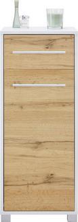 Spodnja Omarica Umbrien Ii - hrast/bela, Moderno, kovina/leseni material (40/100/33cm) - Mömax modern living