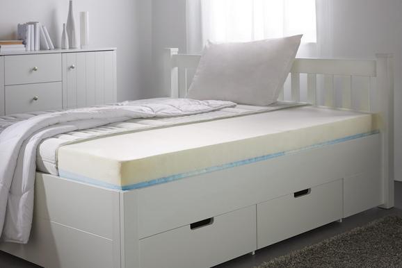 Gelschaummatratze 90x200cm - Weiß, Textil (90/200cm)