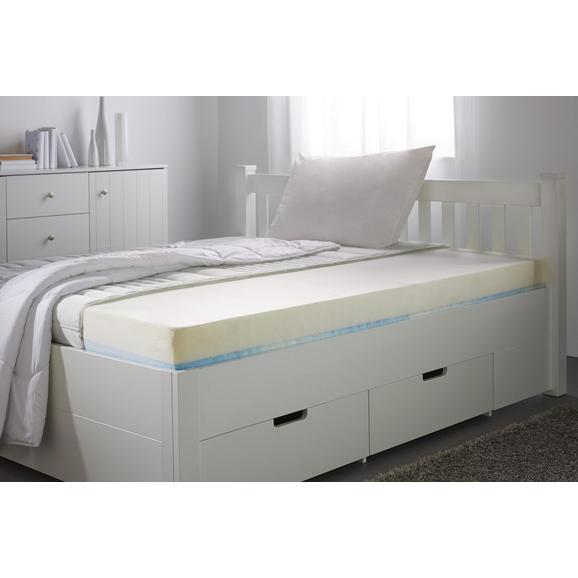 Gelschaummatratze ca. 90x200cm - Weiß, Textil (90/200cm)
