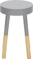 Hocker Frenzy - Grau/Kieferfarben, Holz (30/48/30cm) - Mömax modern living