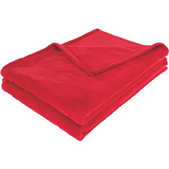 Kuscheldecke Kuschelix Rot - Rot, Textil (140/200cm)