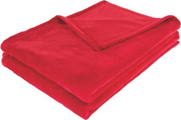Pătură Pufoasă Kuschelix - Roșu, Material textil (140/200cm)