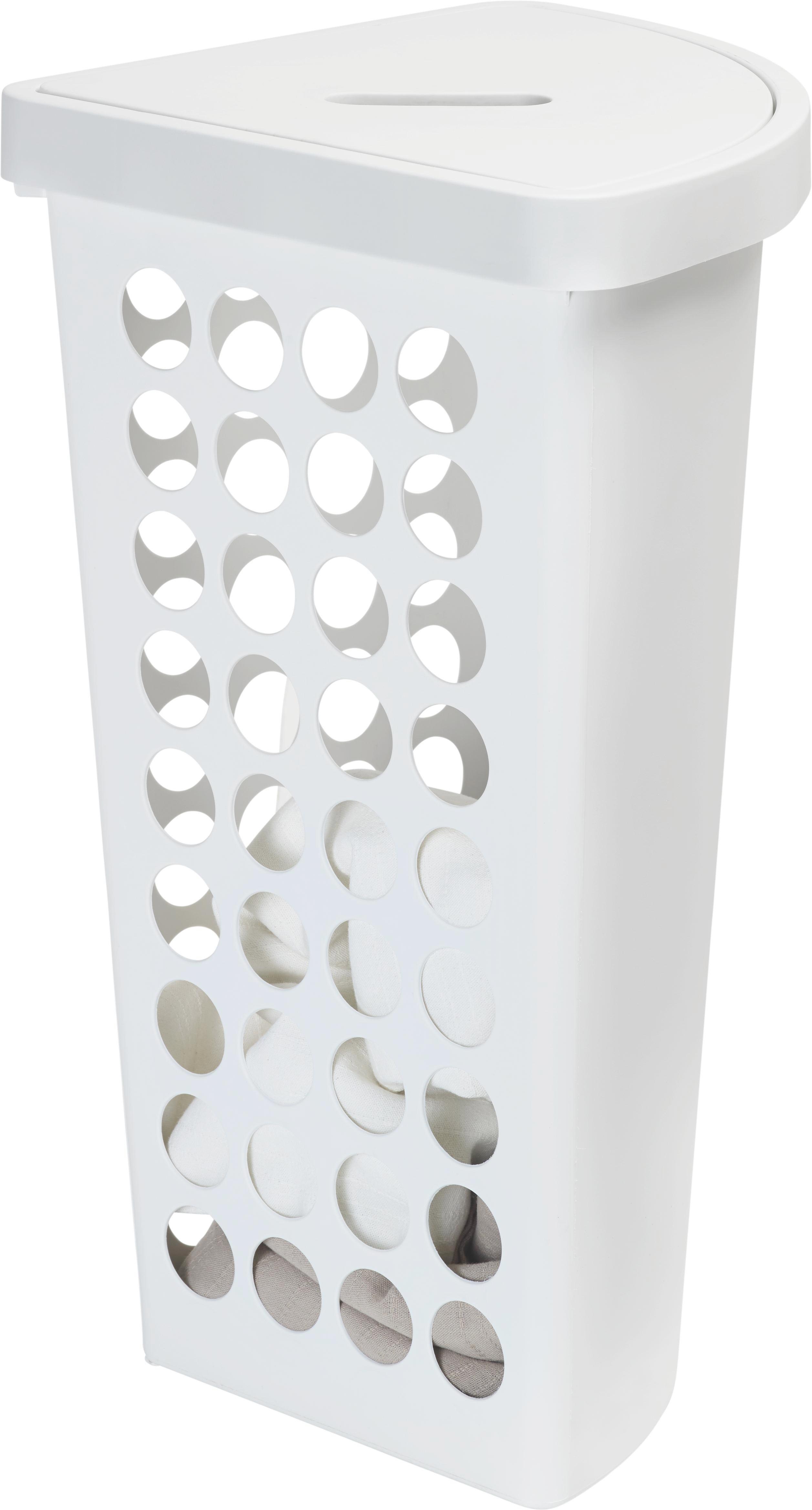 Ruháskosár Nadine - fehér, modern, műanyag (45l) - MÖMAX modern living