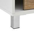 Sideboard Tanja - Eichefarben/Weiß, MODERN, Holz/Kunststoff (146/70/40cm) - Bessagi Home