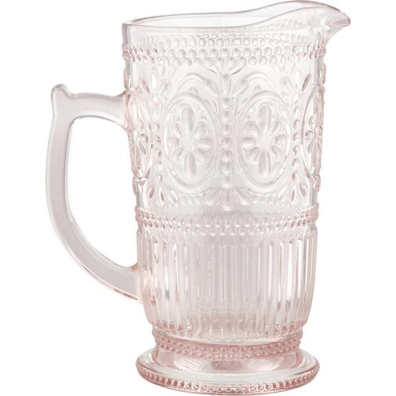 Glaskrug Remy aus Glas ca. 1,3l - Rosa, ROMANTIK / LANDHAUS, Glas (12-18/22,8cm) - Zandiara