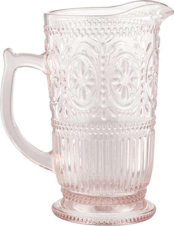 Glaskrug Remy aus Glas ca. 1375ml - Rosa, ROMANTIK / LANDHAUS, Glas (12-18/22,8cm) - Zandiara