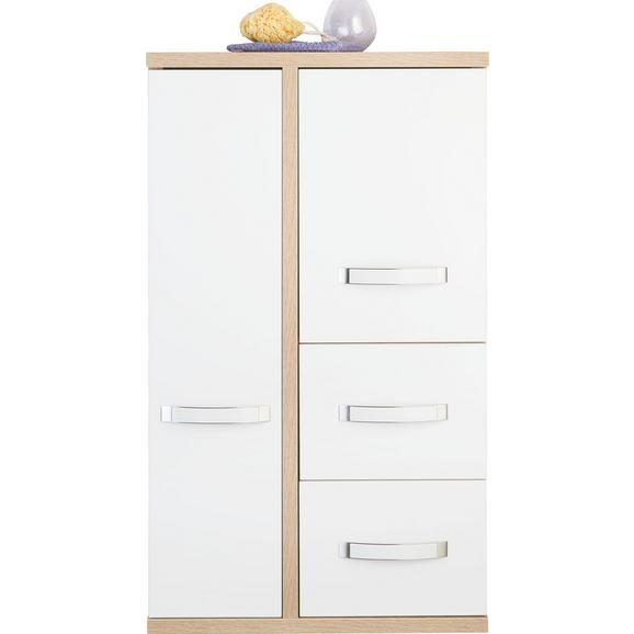 Faliszekrény Ducato - Sonoma tölgy/Fehér, Műanyag/Fa (62.8/108.4/34cm)