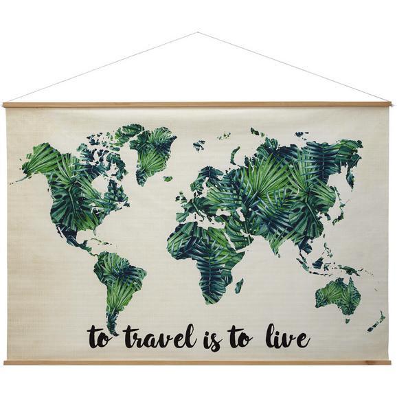 Wanddeko World in Grün/natur online kaufen ➤ mömax