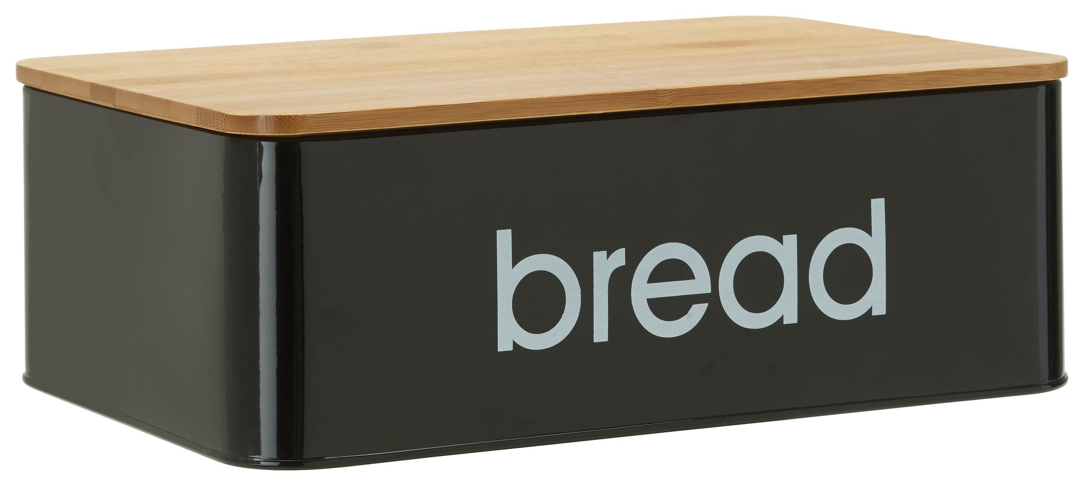 Brotbox Norman in Schwarz - Schwarz, LIFESTYLE, Holz/Metall (33/21/10,5cm) - MÖMAX modern living