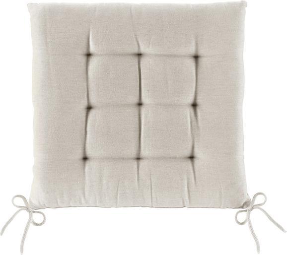 Sitzkissen Anita Beige ca. 40x40cm - Beige, Textil (40/40/4cm) - Mömax modern living