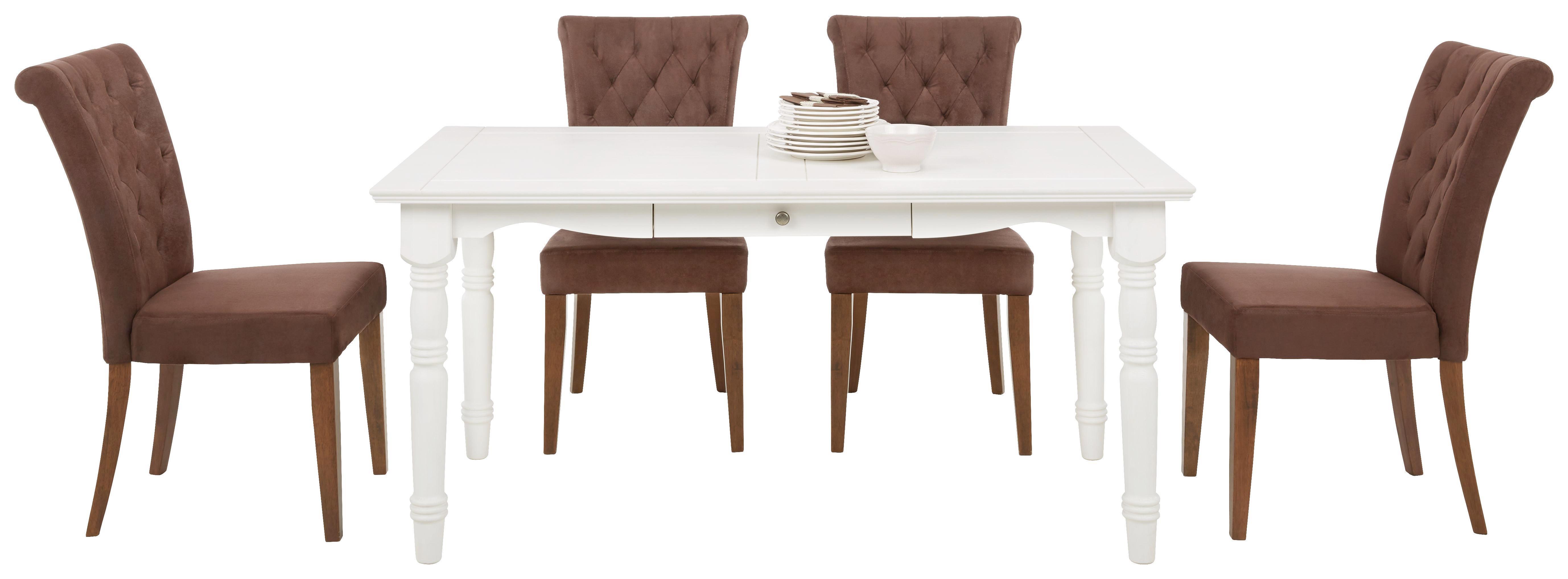 Sessel in Braun - Braun/Weiß, ROMANTIK / LANDHAUS, Holz/Textil (52/99/70,50cm) - ZANDIARA