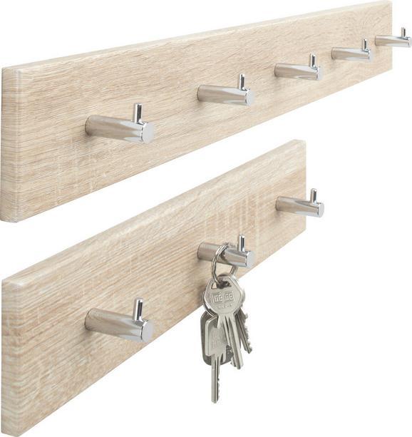 Hakenleiste Eichefarben - Eichefarben, Holz/Metall (34/8/5cm) - Mömax modern living