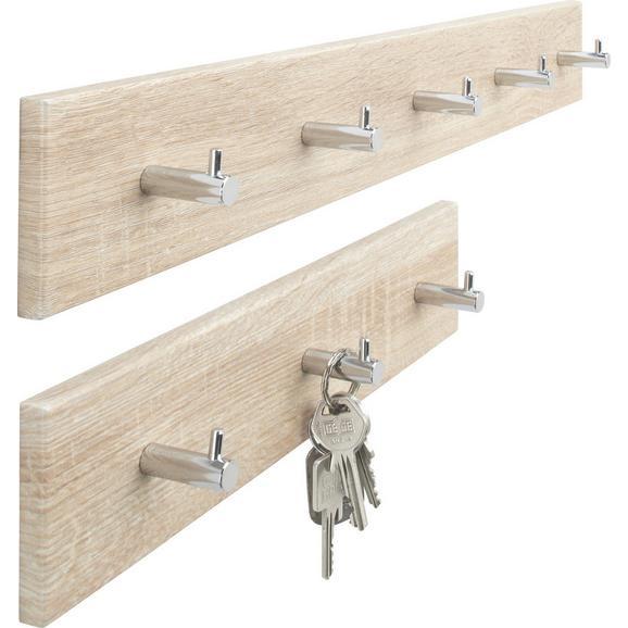 Hakenleiste Eichefarben - Eichefarben, Holzwerkstoff/Metall (34/8/5cm) - Mömax modern living