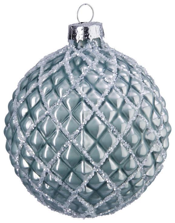 Christbaumkugel Lena Silberfarben - Silberfarben, Glas (8cm) - Mömax modern living