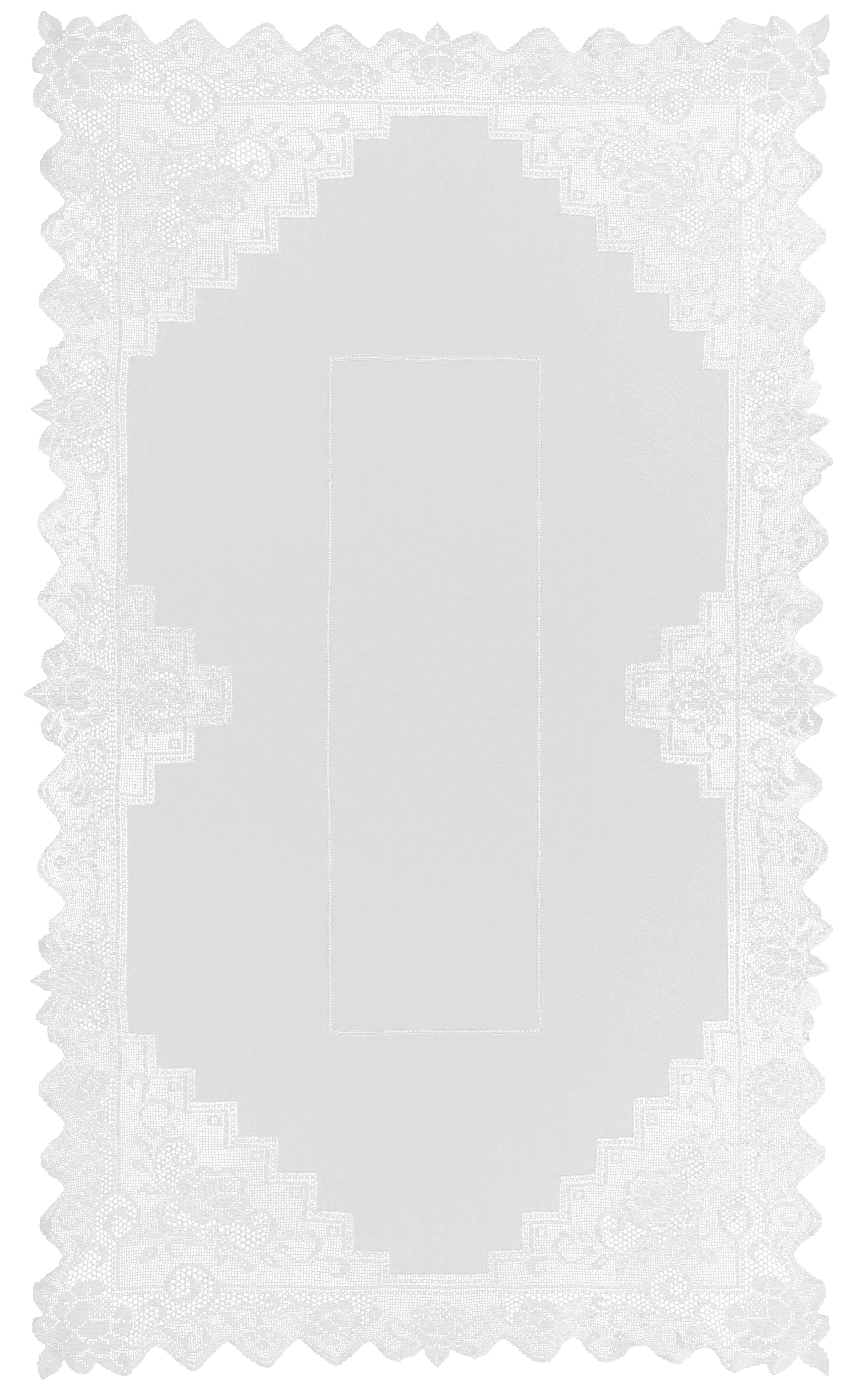 Tischdecke Constance 220x130cm - Weiß, KONVENTIONELL, Textil (220/130cm) - MÖMAX modern living