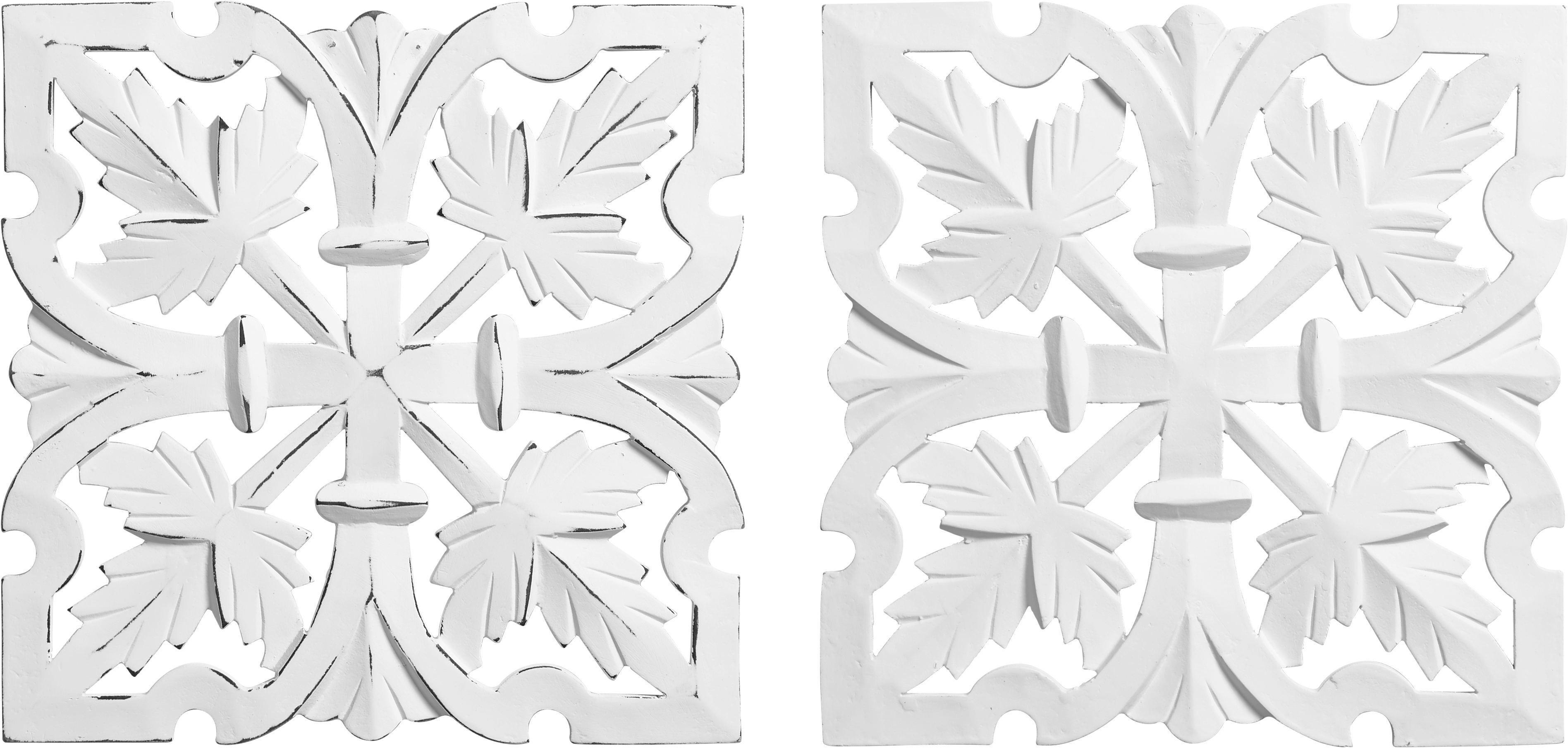 Fali Dekoráció Krishna - fehér, romantikus/Landhaus, faanyagok (30/30cm) - MÖMAX modern living