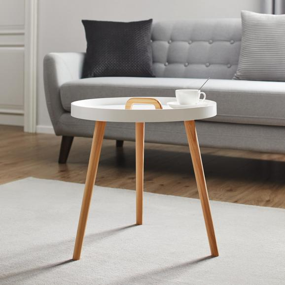 Couchtisch Lia Ø ca. 49,5 cm - Weiß/Pinienfarben, MODERN, Holz (49,5/49,5cm) - Mömax modern living