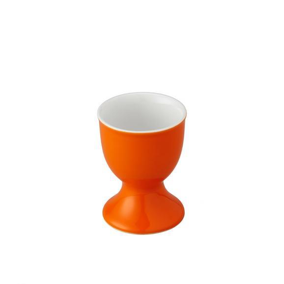 Eierbecher Sandy in Orange - Orange, KONVENTIONELL, Keramik (4,8/6,5cm) - Mömax modern living