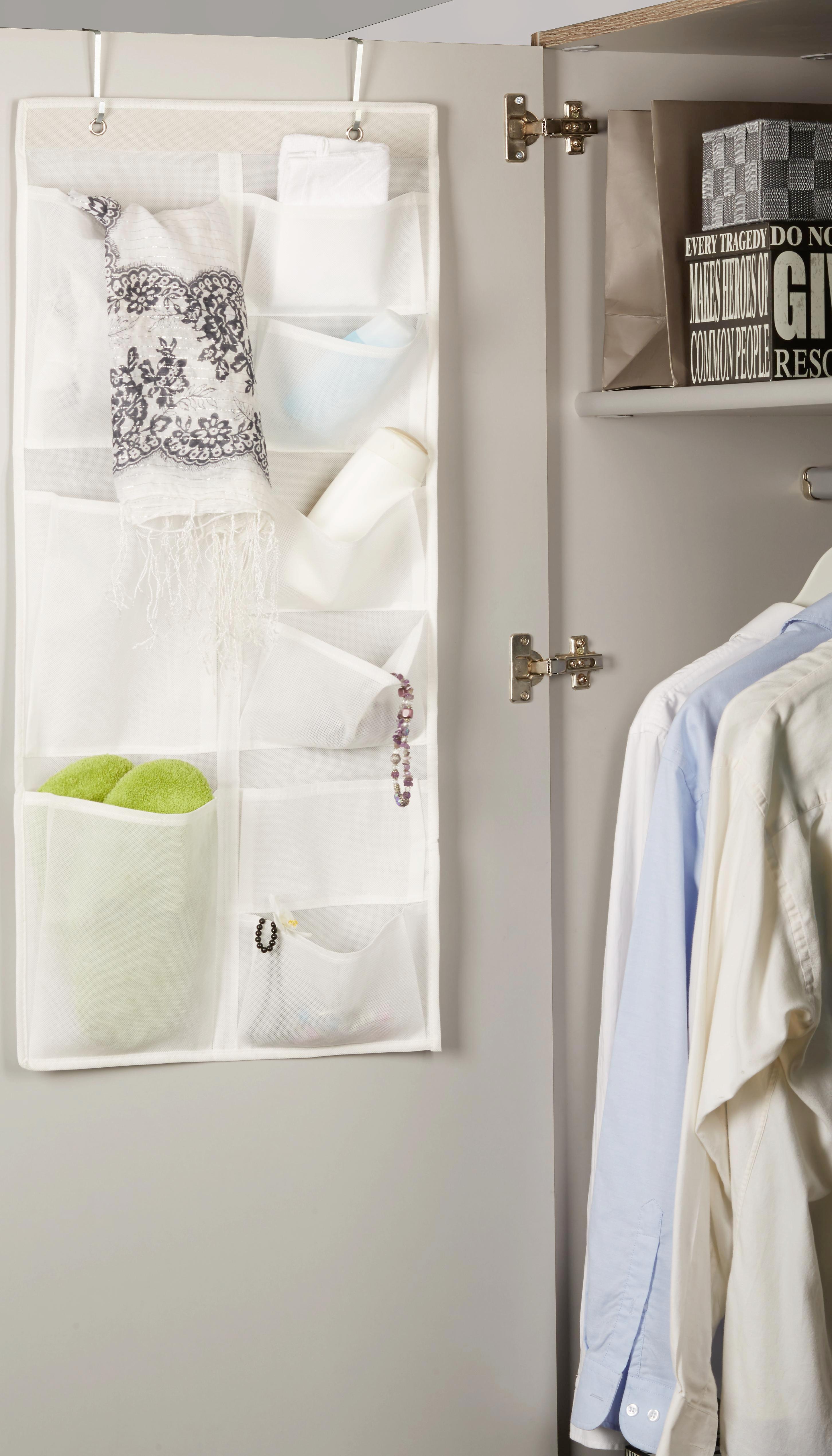 Hängeaufbewahrung Lotta in Weiß - Weiß, Karton/Textil (40/88cm) - MÖMAX modern living