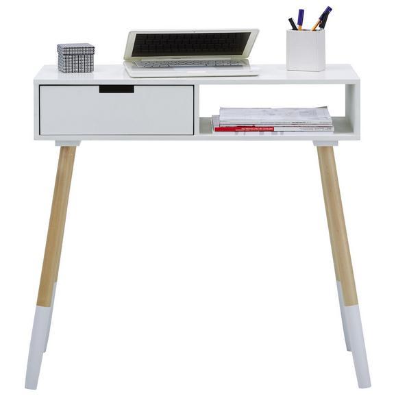 Schreibtisch in Weiß Teilmassiv