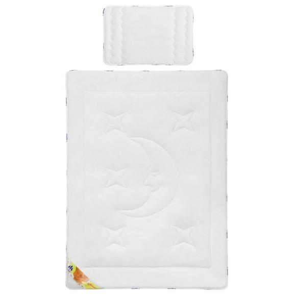 Irisette Kinderbettdecke + Kissen ca.100x135/40x60cm - Weiß, KONVENTIONELL, Textil - Irisette
