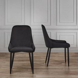 STUHL Enna - Schwarz, MODERN, Textil/Metall (48/85/58cm) - Mömax modern living