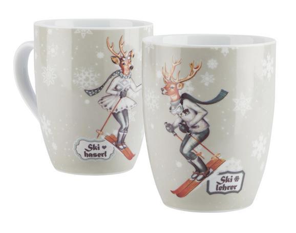 Kaffeebecher 2-er Set - Multicolor, MODERN, Keramik (8,2/10,3cm) - Mömax modern living