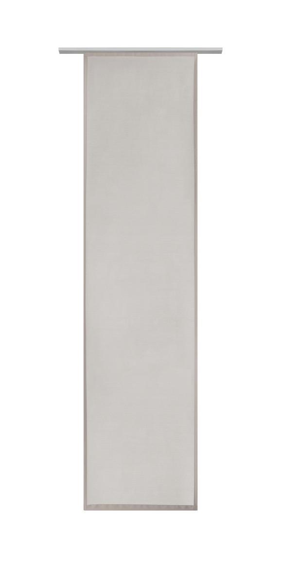 Flächenvorhang Vicky in Stein, ca. 60x245cm - Beige/Braun, Textil (60/245cm) - Mömax modern living