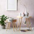 Beistelltisch aus Kiefer Teilmassiv - Weiß/Kieferfarben, MODERN, Holz/Holzwerkstoff (61/50cm) - Modern Living