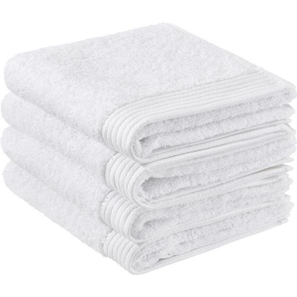 Handtuch Dolly ca.50x100cm - Weiß, KONVENTIONELL, Textil (50/100cm) - Bessagi Home