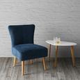 Sessel Laura - Blau, MODERN, Holz/Textil (62/83/62cm) - Mömax modern living
