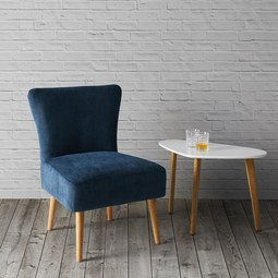 Wohnsessel Laura - Blau, MODERN, Holz/Textil (62/83/62cm) - Mömax modern living