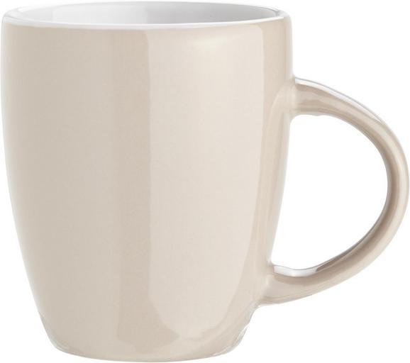 Kaffeebecher Senseo aus Keramik, ca. 325ml - Türkis/Grau, ROMANTIK / LANDHAUS, Keramik (7,2/8cm) - MÖMAX modern living